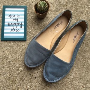 Lucky Brand Blue Slip-on Flats Shoes Size 8